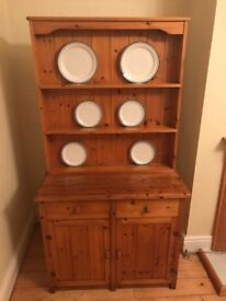 Tall Solid Pine Wooden Cabinet With Feature Display (Great Condition)
