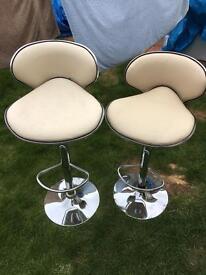 Two bar stools £1
