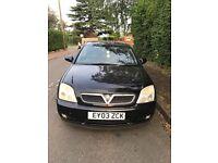 2003 Vauxhall Vectra 1.8 Petr 5 Door Black