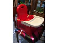 Mothercare Booster with tray - like a highchair - red