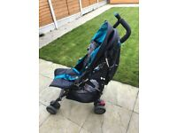 Silver Cross Blue pushchair, Excellent condition