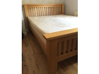 Beautiful solid oak king size bed frame, great condition, NO mattress