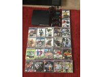 Slim Playstation PS3 Console, 2 controllers, 22 games bundle, charging controller stand