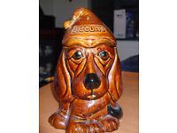 Fun dog cookie jar