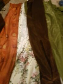 Job lot curtain bundle over 7 pairs.