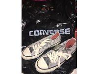 New ladies size 4.5 grey converse