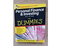 PERSONAL FINANCE AND INVESTING FOR DUMMIES - BRAND NEW