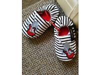 Boys guitar slippers. Brand new. Size 12