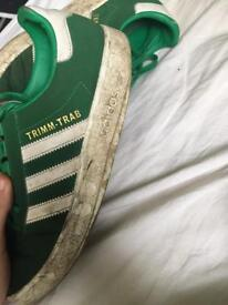 adidas trimm-trab green deadstock size 7