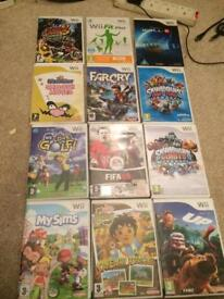 Various Nintendo Wii games for sale