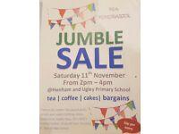 JUMBLE SALE - Sat 11th Nov, 2-4 pm, Henham and Ugley Primary School