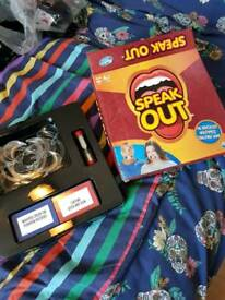 Speak Out board game never used boxed