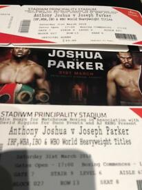 3 x Anthony Joshua vs Joseph Parker Tickets