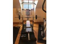 York multi gym with weights