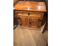 Wooden Storage Unit , feel free to view W 24 in D 15 in H 24 in one drawer and double cupboard .