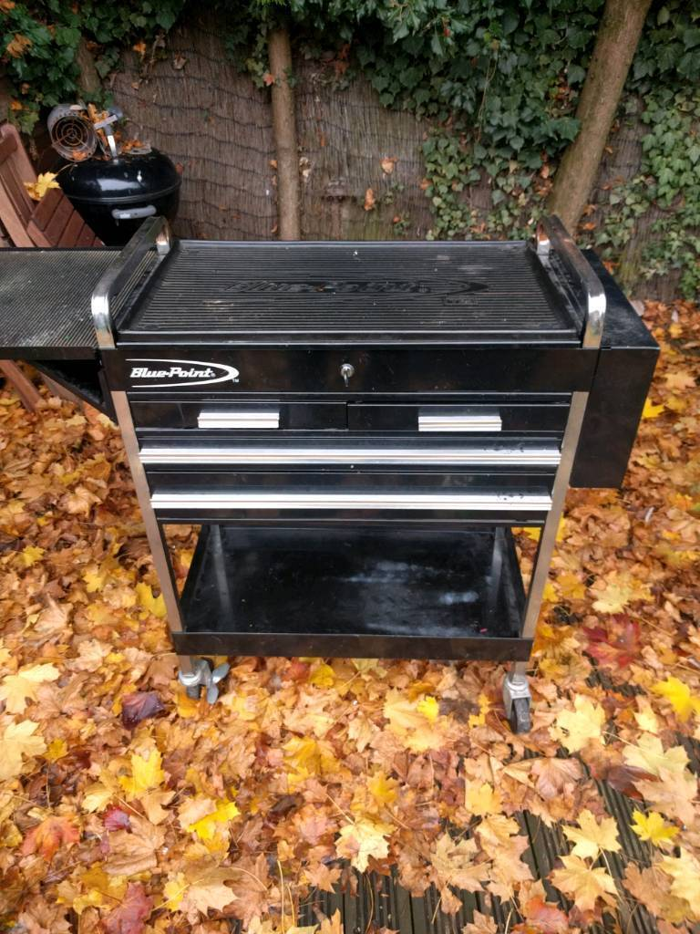 Bluepoint Tool trolley box and tools