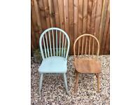 2 Vintage Wooden Chairs - Farmhouse Style - Can Buy Single