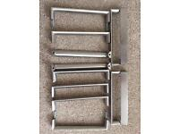 Howdens D shape chunky stainless handles