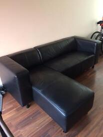 Leather couch sofa 3 seater