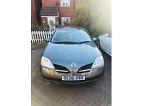 Nissan Primera 1.8 S 5dr. High mileage but driver perfect. Low price for urgent sale.