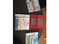 Nintendo DS plus 3 games , no charger but can be bought in any electrical shop for £5