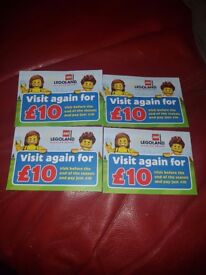 4 legoland tickets