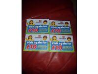 4 legoland tickets