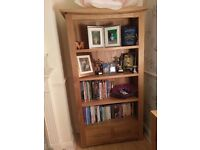 Solid oak bookcase. rrp £400. For sale £160. Collection onl