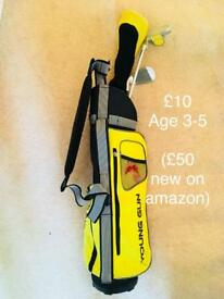 Kids golf clubs. Age 3-5. Used condition
