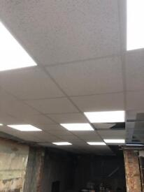 LED 600 x 600 robus lights and suspended ceiling.