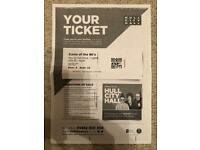 Icons of the 80's concert ticket Hull City Hall 22/2/18