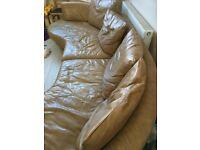 Big Italian Leather NATUZZI Sofa (reduced)