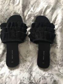 New look suede fancy sliders size 5