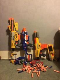 6 Nerf guns