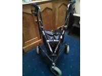 Mobility aid, 3 wheel shopper/walker