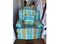 2 nearly new arm chairs was 1500 each when bought only want 75 each buyer collects