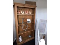 Large Solid Pine Bookcase/Display Unit