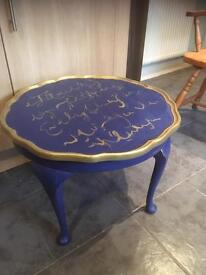 VINTAGE ROUND SCALLOPED EDGE COFFEE TABLE - CAN DELIVER