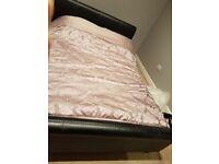 black king size leather bed frame
