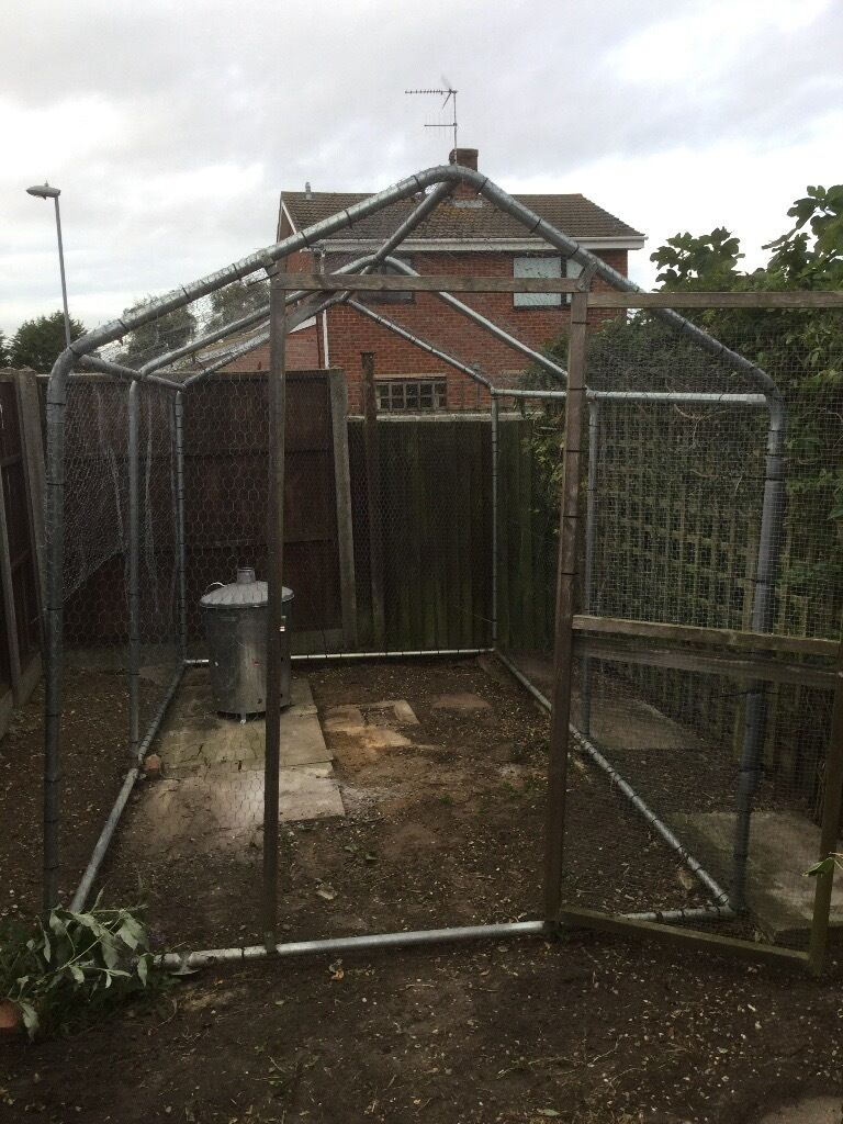 Aluminium chicken run/ fruit housein Beccles, SuffolkGumtree - Aluminium chicken/rabbit run or fruit frame .... I used as a walk in chicken run and attached nesting box ....... Measurements Length 3.6 mtrs Height 2.2 mtrs Width 2 mtrs Materials frame aluminium cover with chicken wire and wood frame door.... Paid...