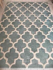 Teal morocccan style rug 160 x 230cm