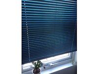 Venetian blinds, metal, thin profile, blue