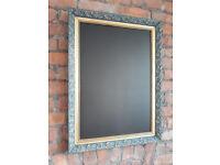 shabby chic chalkboard blackboard blue and gold