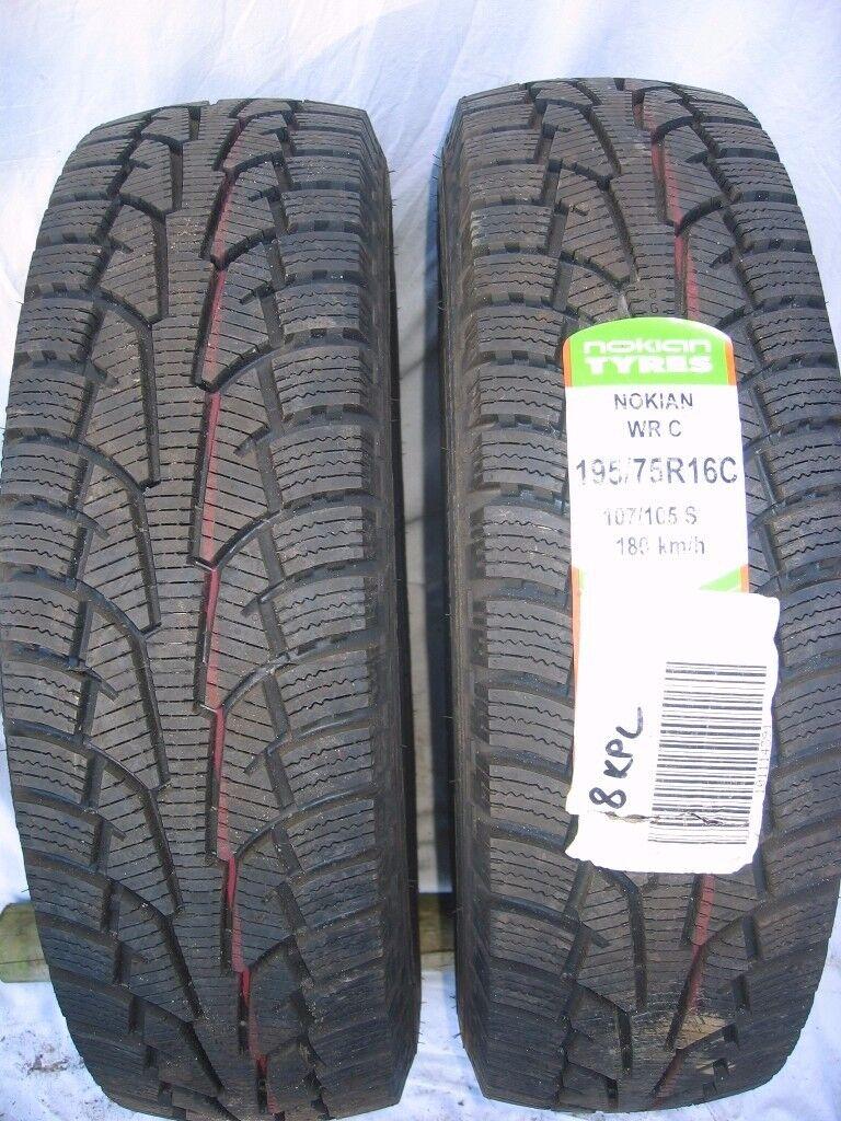 2 x Nokian WRC tyres. 195/75R16