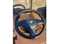 Genuine bmw e46 e39 x5 m sport steering wheel
