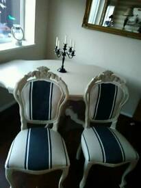 Louis table and two chairs