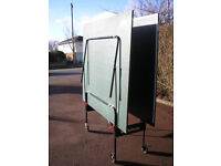 Folding table tennis table in green