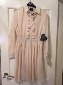 Size 12 Cream Katie Piper Dress Brand New