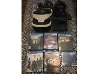 PlayStation vr bundle with camera 5 games boxed