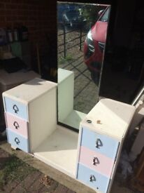 Shabby chic project dresser unit with mirror